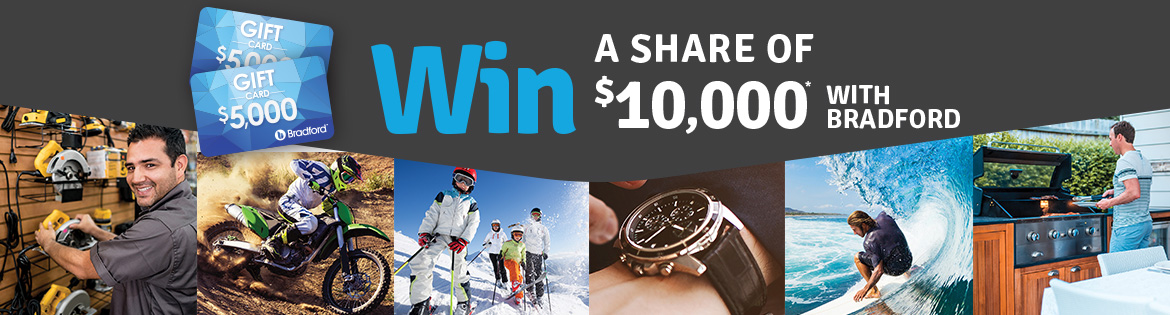 Win a share of $1000 with Bradford